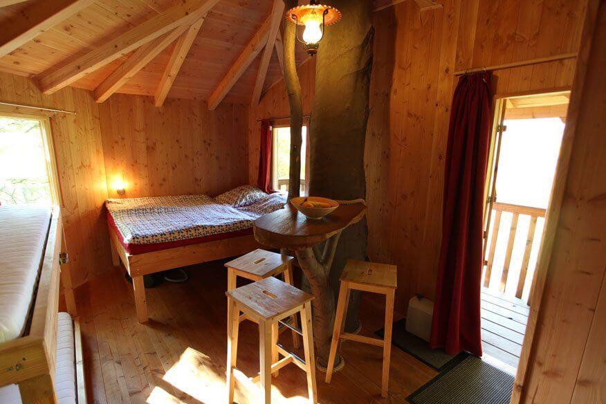 Baumhaushotel Solling Schlafzimmer