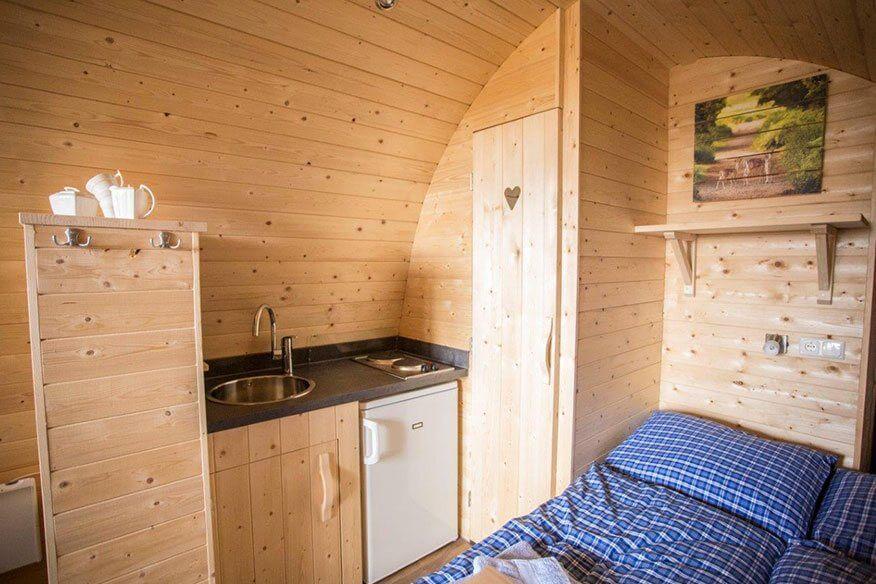 Baumhäuser im Lausitzer Seenland Wohnbereich