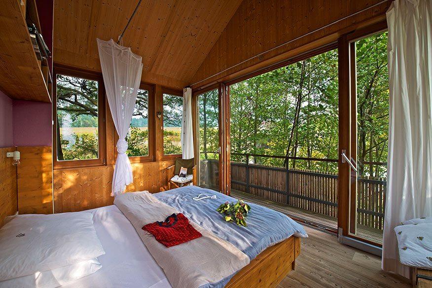 Baumhaus Hofgut Hafnerleiten Schlafzimmer