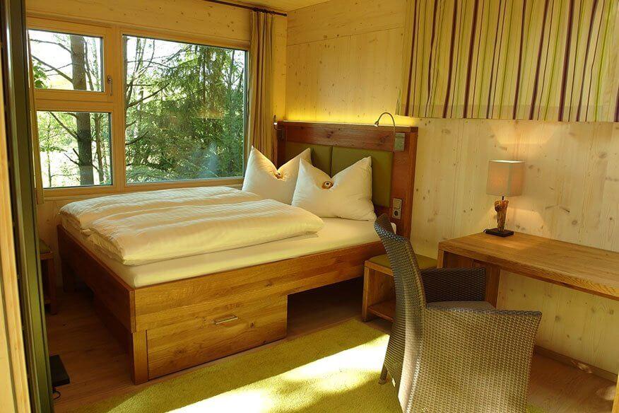 Baumhaus Lodge Schlafbereich