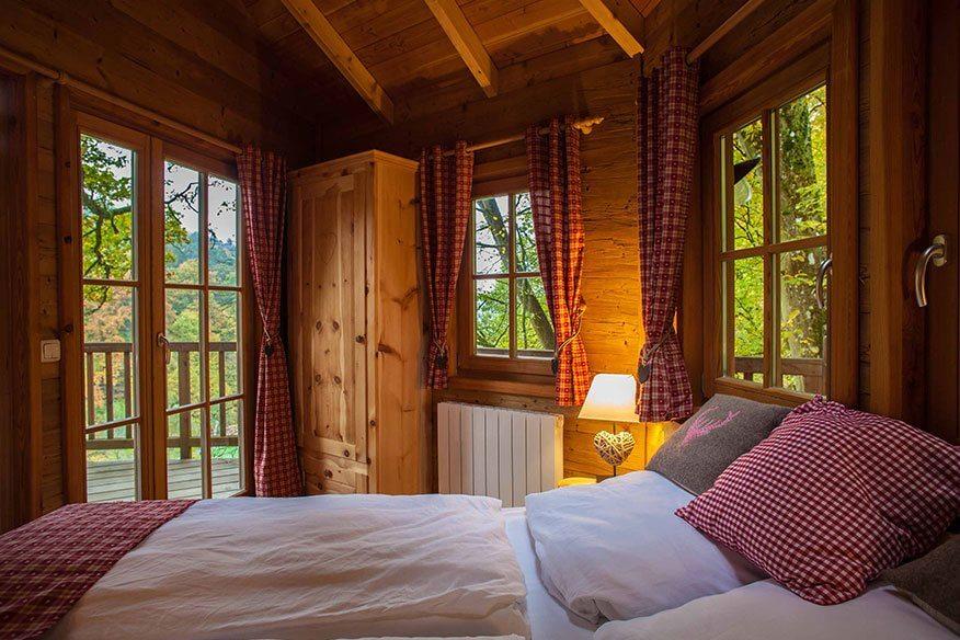 Baumhaushotel Seemühle Doppelbett