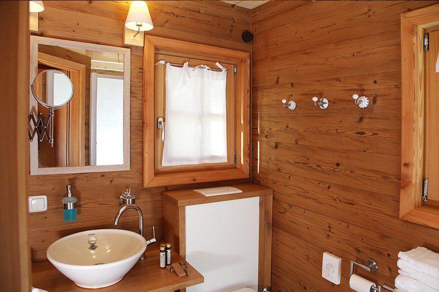 Baumhaushotel Seemühle Badezimmer