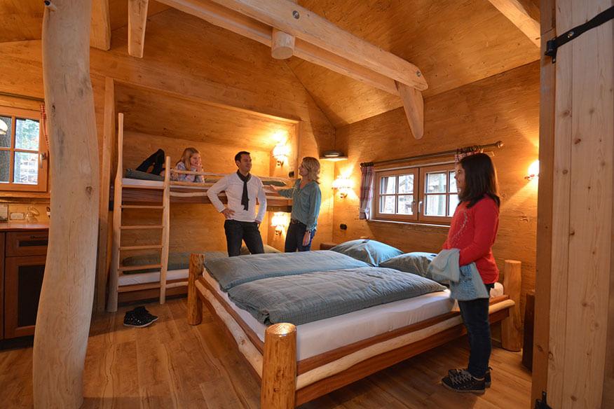 Baumhaus Tripsdrill Schlafbereich