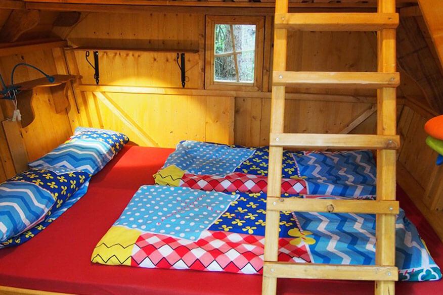 Familienpark Sottrum Baumhaus Doppelbett