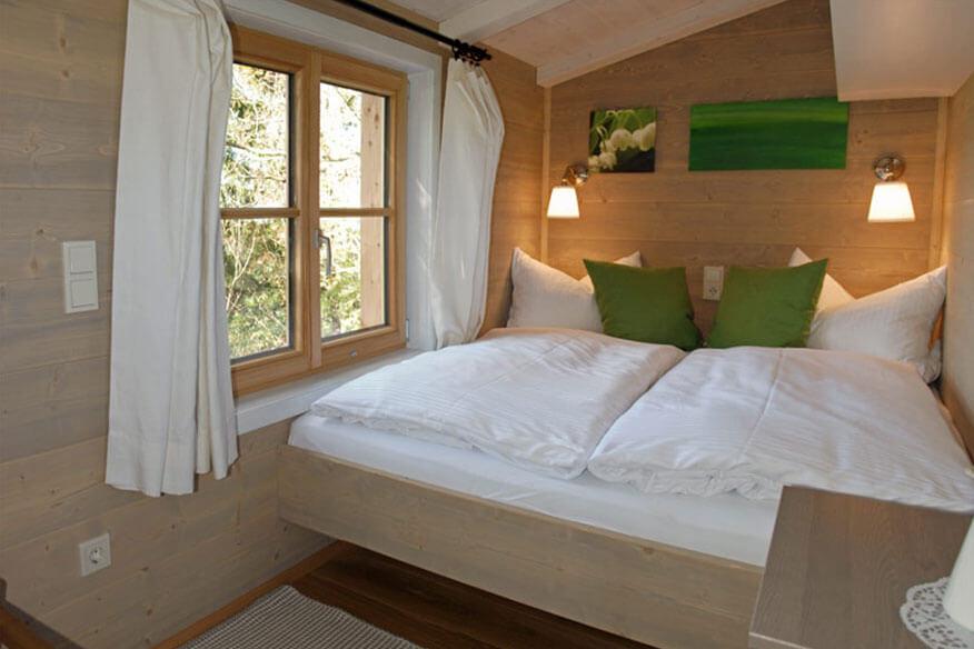Baumhaushotel Allgäu Schlafzimmer
