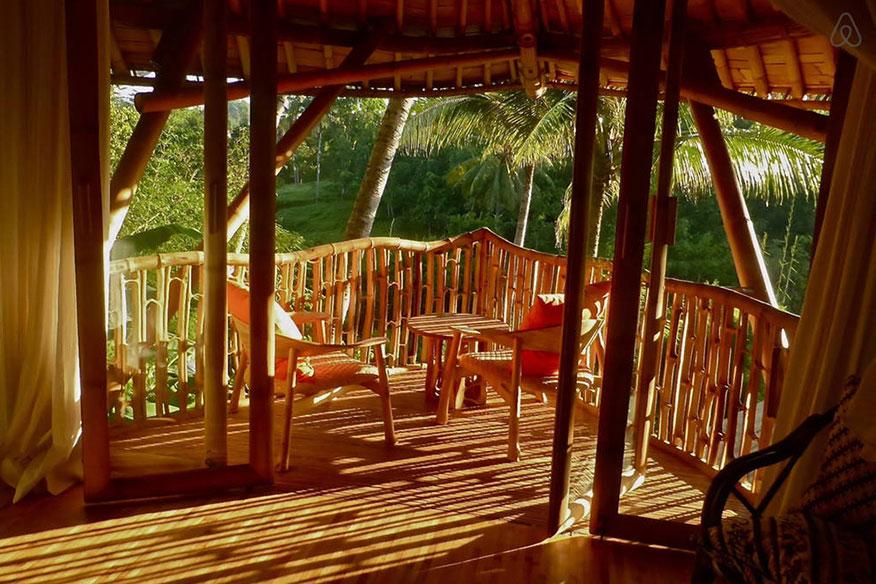 Baumhaushotel Green Village Ananda House Terrasse