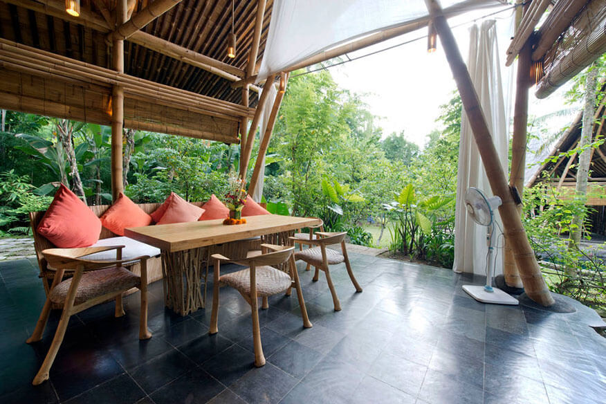 Baumhaushotel Green Village Garden House Essbereich