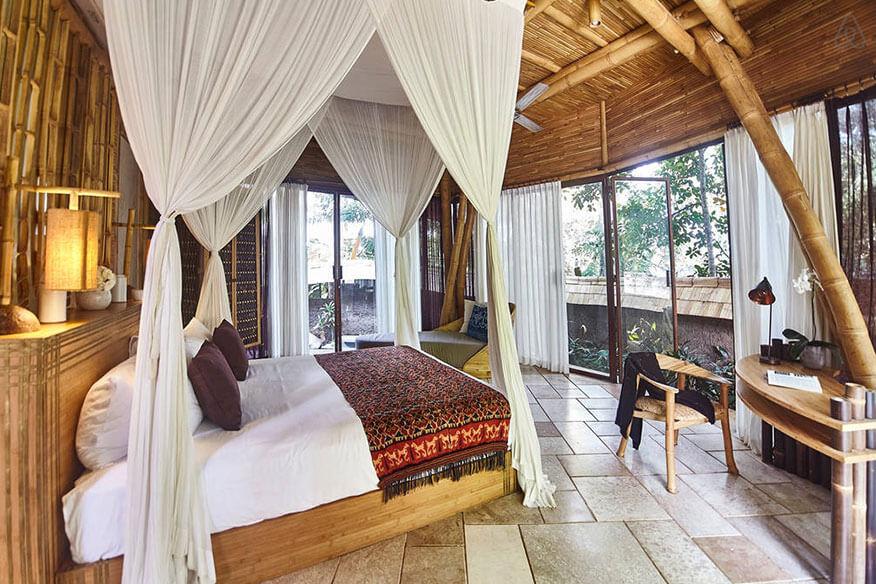 Baumhaushotel Green Village Cacao House Schlafbereich
