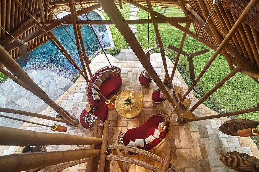 Baumhaushotel Green Village Cacao House Wohnbereich