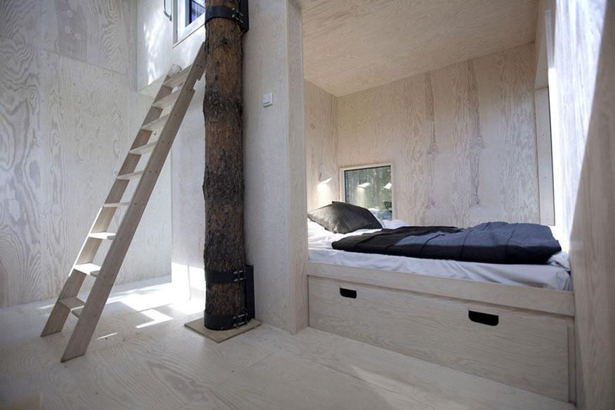 Treehotel Mirrorcube Schlafbereich