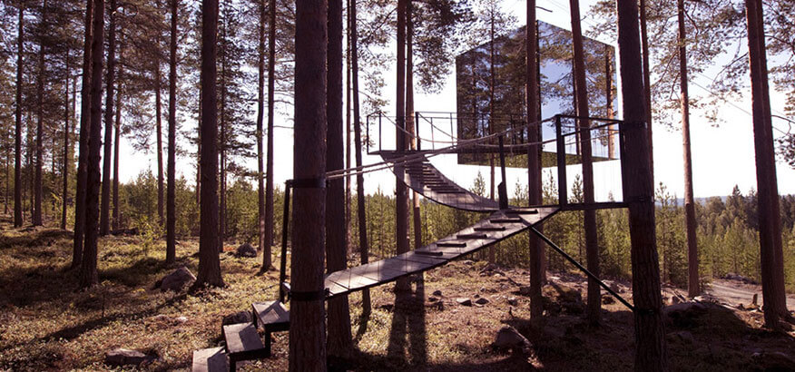 Treehotel The Mirrorcube Schweden