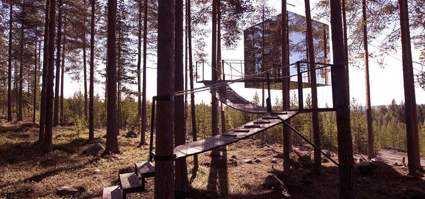 Treehotel The Mirrorcube Schweden