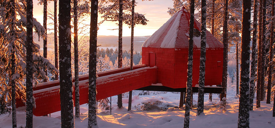 Treehotel The Blue Cone Schweden
