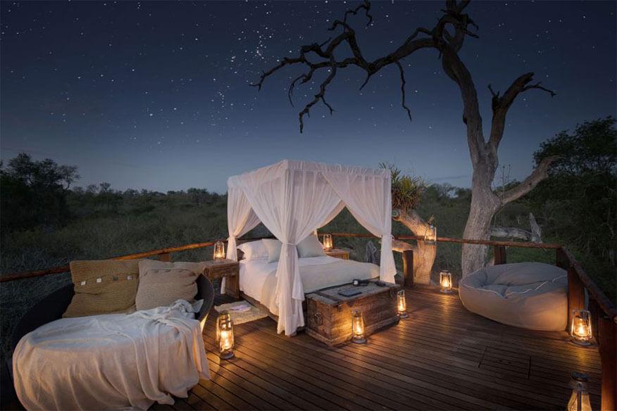 lion sands chalkley baumhaus bei nacht