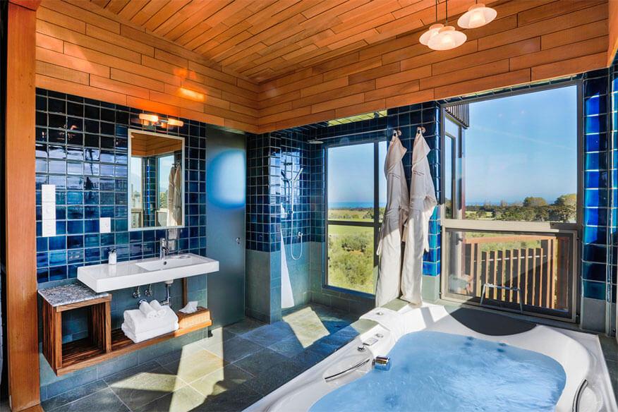 Hapuku Lodge Badezimmer