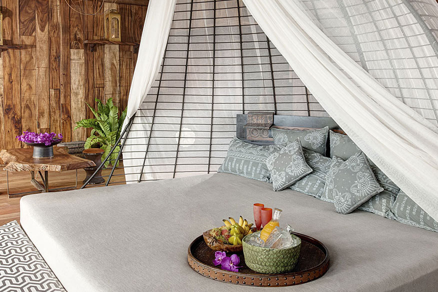 Keemala Baumhaushotel Schlafbereich