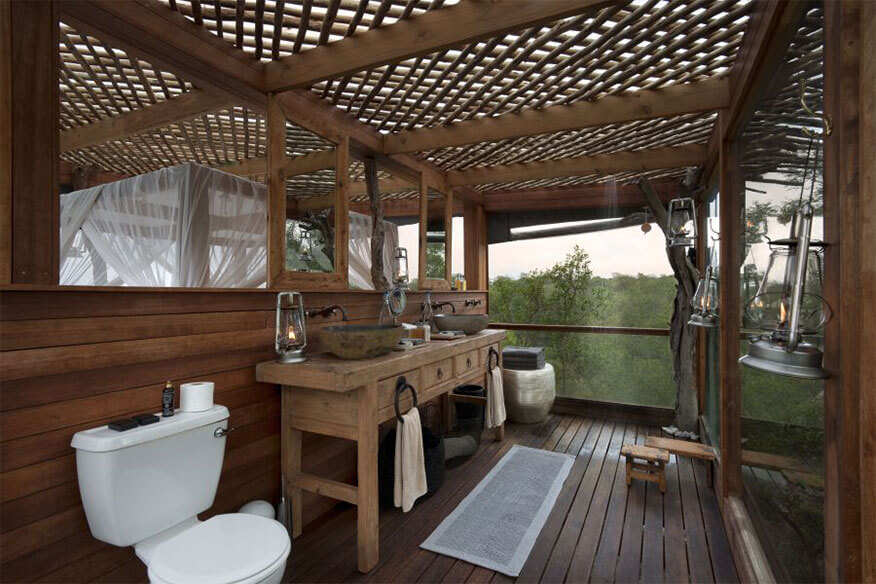 lion sands kingston baumhaus badezimmer