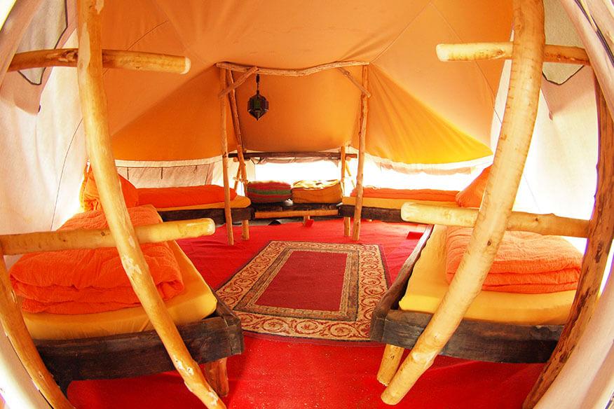 Baumhaushotel der geheimen Welt von Turisede Schlafbereich