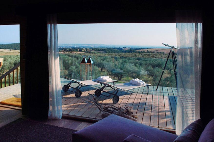 Baumhaus Black Cabin Panoramablick