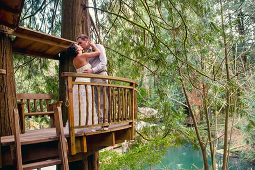 Baumhaushotel TreeHouse Point Hochzeit