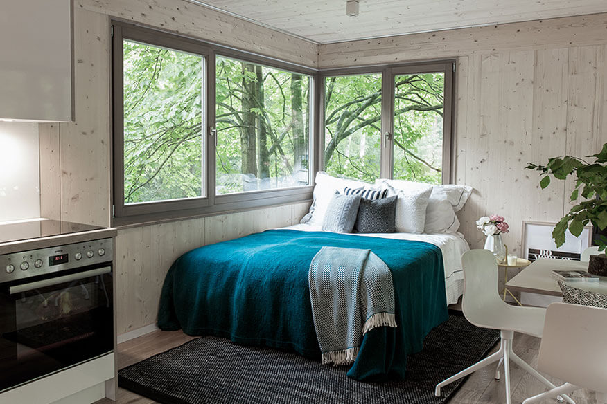 The Urban Treehouse Schlafbereich