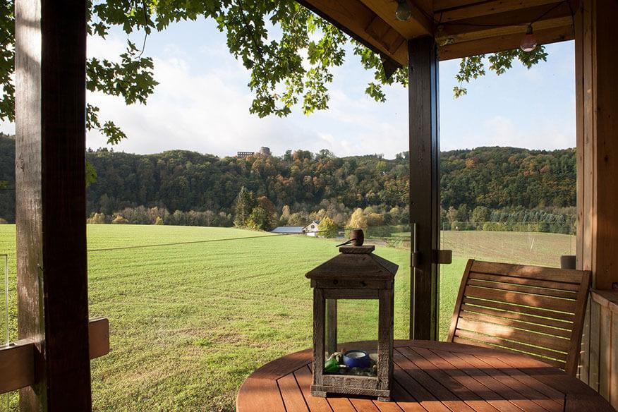 Siegtal Baumhaus Aussicht