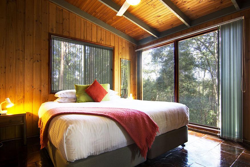 Kondalilla Eco Resort Baumhaus Schlafzimmer