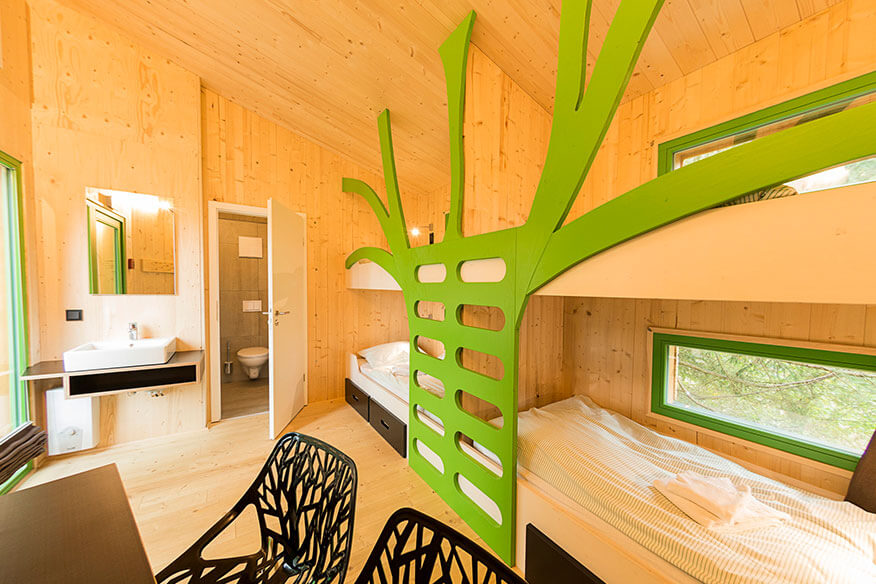 Panarbora Baumhaus Wohnbereich